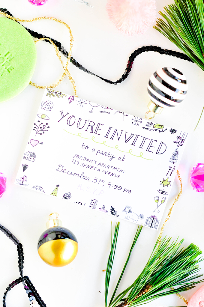 ProperPrintables Printable New Year\'s Eve Party Invitations - PROPER