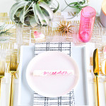 Setting The Table \\ DIY Chocolate Place Cards For A Galentine's Party