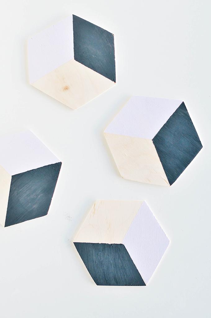 DIY geometric coasters