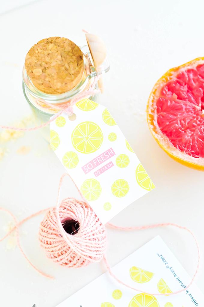 DIY Bath Bombs & Printable Citrus Label