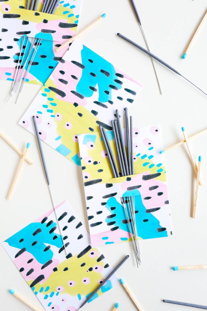 Printable Firework Labels || www.theproperblog.com