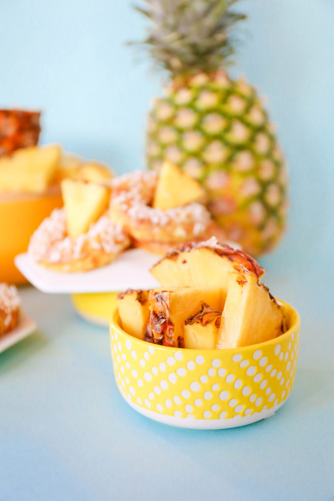 Baked Pineapple Donuts Recipe || @theproperblog