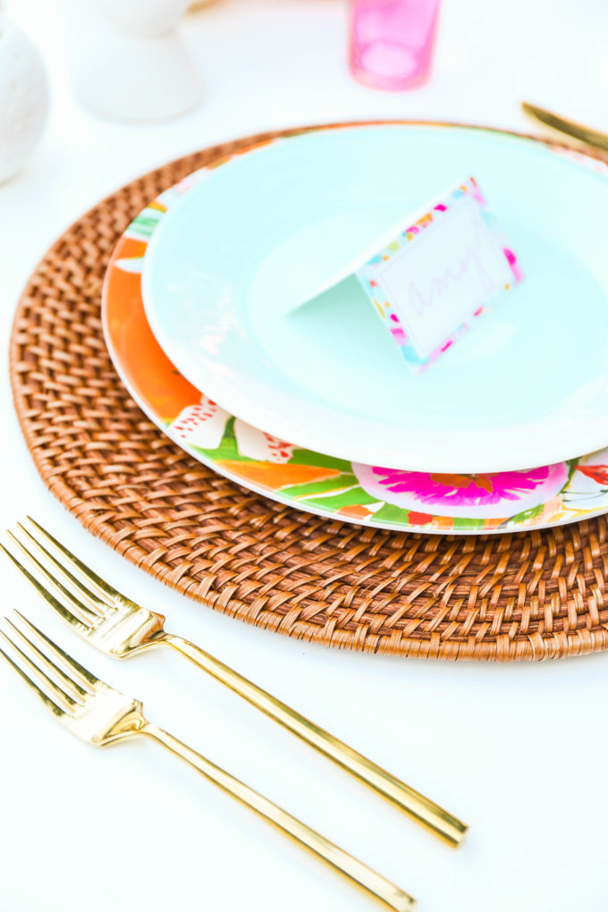 #ProperPrintables \\ Painterly Placecards Perfect For Thanksgiving