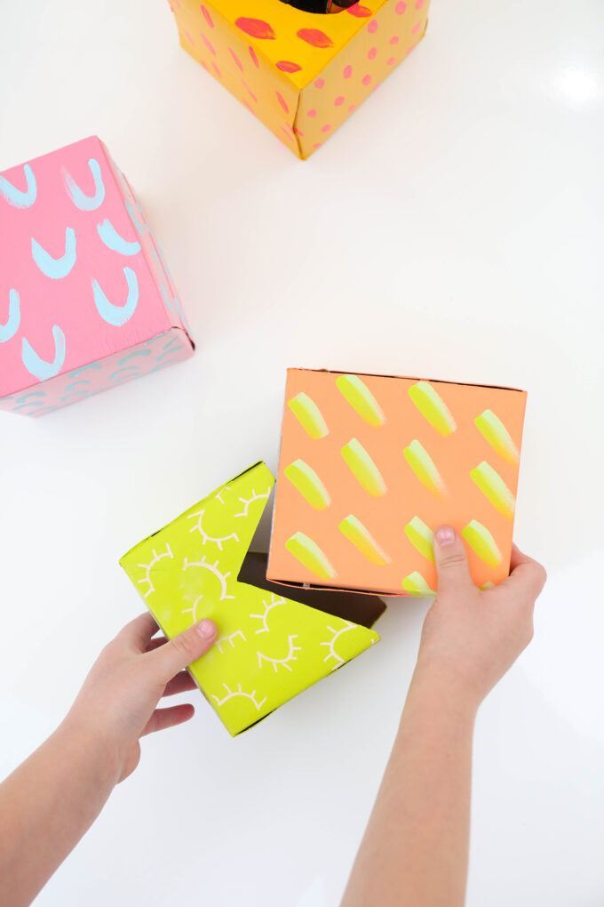 Make It \\ DIY Gift Wrap with Upcycled Kleenex Boxes