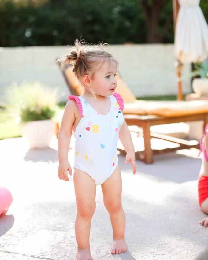 baby in swimsuit