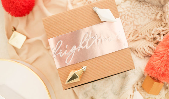 That's A Wrap \\ DIY Gift Wrap with Debossed Foil Sleeve & How I Personalize The Holidays with The Cricut Maker